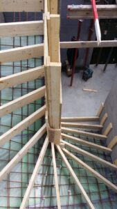 bekisting betonnen trap